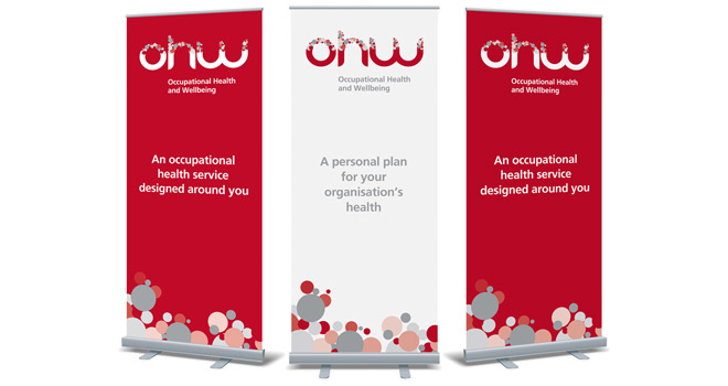 Exhibition graphic design - Bubblegate: OHWorks roller banners