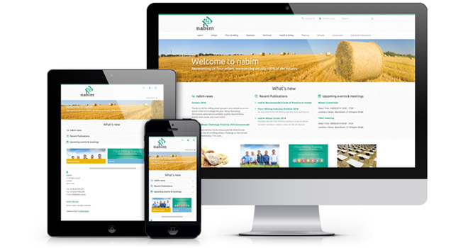 Responsive website design - Bubblegate: NABIM trade association website